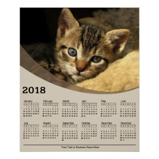 Kätzchen 2018, das Plakat-Kalender legt Poster