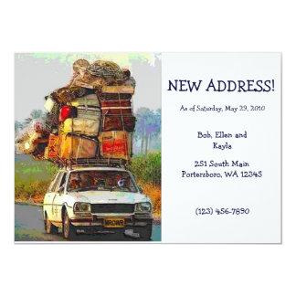 Kätzchen-Adressen-Änderungs-Karten-Schablone in Personalisierte Einladungen