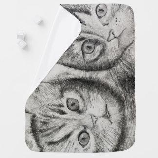 Kätzchen-Duo für neugeborenes, Katzenliebhaber, Babydecke