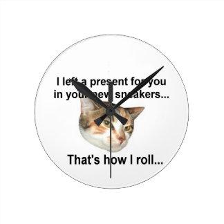 Kätzchen-Geschenk Runde Wanduhr