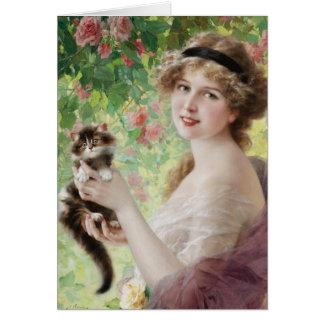 Kätzchen-Gruß-Karte Emile Vernon wertvolle Karte