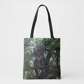 Kätzchen in den Baum-Spitzen, Tasche