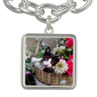 Kätzchen in einem Korb Armband