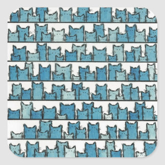 Kätzchen macht mich blaue Aufkleber nicht