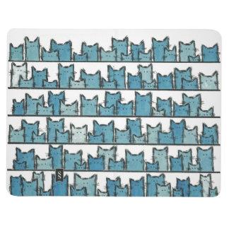 Kätzchen macht mich blaue Taschen-Zeitschrift Taschennotizbuch