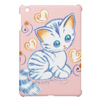 Kätzchen mit Herzen u Wirbel Hülle Für iPad Mini