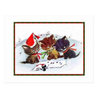 Kätzchen mit Maestro-Maus Postkarte