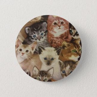 Kätzchen Runder Button 5,1 Cm