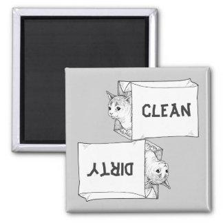 Kätzchen-Spülmaschinen-Magnet fertigen Hintergrund Magnets