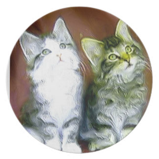 Kätzchen Teller