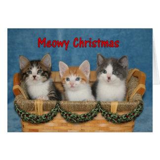 Kätzchen-Trio - Meowy Weihnachtskarte Grußkarte