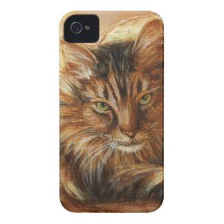 Katze 0005 auf Kissen iPhone 4 Case-Mate Hülle
