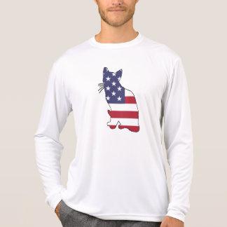 """Katze """"amerikanische Flagge """" T-Shirt"""