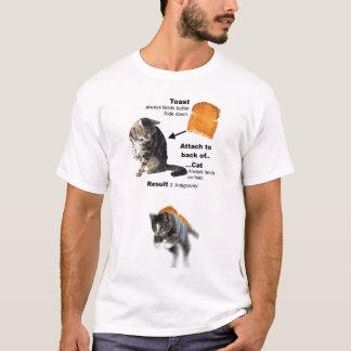 Katze Antigravitations T-Shirt