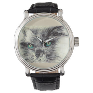 Katze Armbanduhr