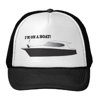 Katze auf einem Bootshut Retrokultcap