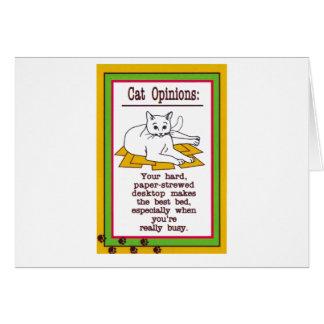 Katze auf einem Schreibtisch Karte