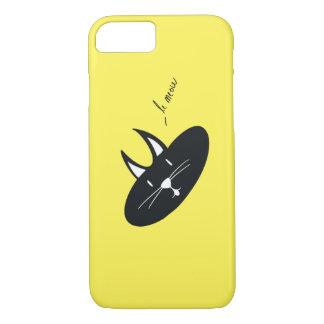 Katze auf gelbem (Farbe ist kundengerecht), Iphone iPhone 8/7 Hülle