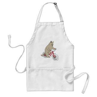 Katze auf Jugend-Fahrrad Schürze