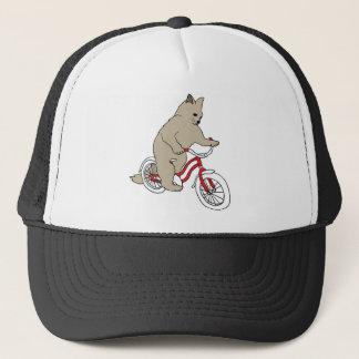 Katze auf Jugend-Fahrrad Truckerkappe