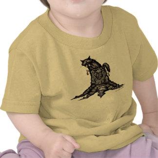 Katze auf Kunst-Baby-T - Shirt des Stumpfs