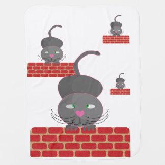 Katze auf Wand Babydecke