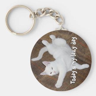 Katze ausdehnen - Keychain Schlüsselanhänger