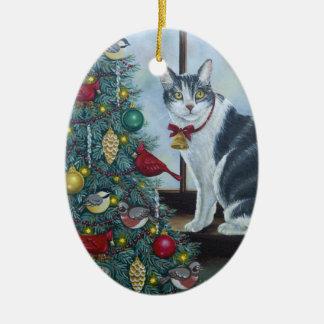 Katze des Weihnachten0417 Keramik Ornament
