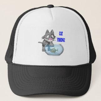 Katze, die 2 fischt truckerkappe