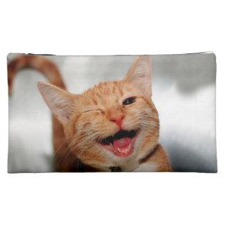 Katze, die blinzelt - orange Katze - lustige Kosmetiktasche