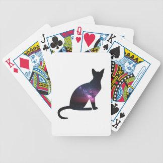 Katze, die die Galaxie und das große Universum Bicycle Spielkarten