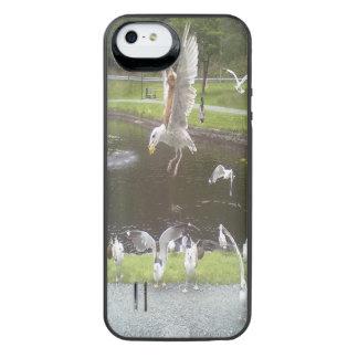 Katze, die eine Seemöwe fliegt iPhone SE/5/5s Batterie Hülle
