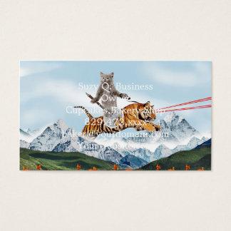 Katze, die einen Tiger reitet Visitenkarten