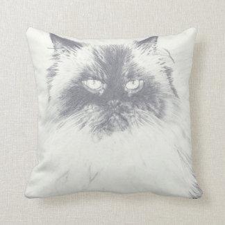 Katze, die Kissen-Wohngestaltung zeichnet Kissen