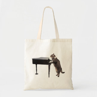 Katze, die Klavier spielt Tragetasche