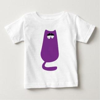 Katze, die lila so müde Augen sitzt Baby T-shirt