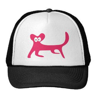 Katze, die seitlich rosa hallo-Augen geht Retromützen