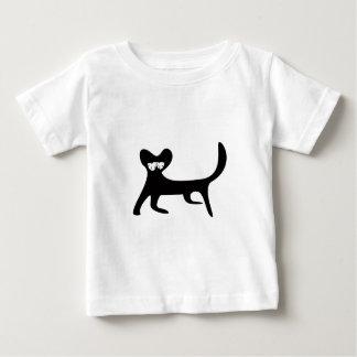 Katze, die seitlich schwarze so müde Augen geht Baby T-shirt