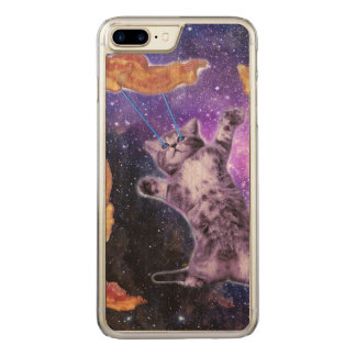 Katze, die Speck mit Augen-Laser brät Carved iPhone 8 Plus/7 Plus Hülle