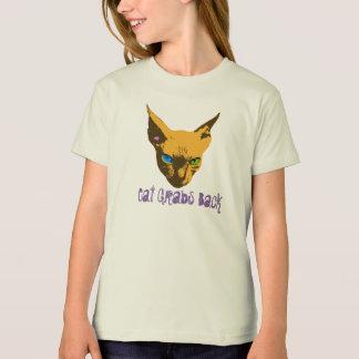 Katze ergreift zurück Pop-Kunst T-Shirt