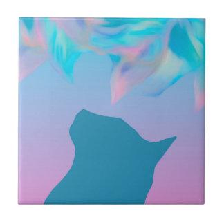 Katze farbiger Traum Keramikfliese