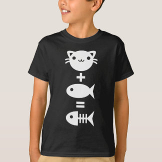 Katze + Fische = Knochen T-Shirt