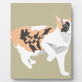 Katze Fotoplatte