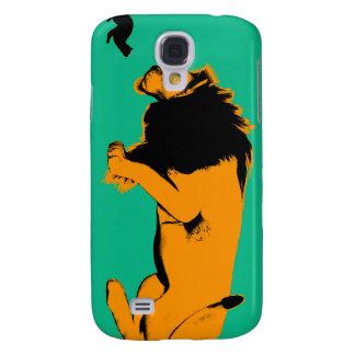 Katze gegen den Löwe bereit, zu kämpfen oder Galaxy S4 Hülle