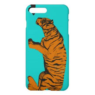Katze gegen den Tiger bereit, zu kämpfen oder iPhone 8 Plus/7 Plus Hülle