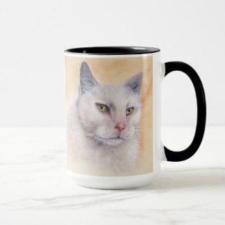 Katze gemalt in der Wasserfarbe Tasse