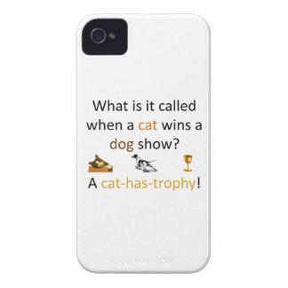 Katze-haben-Trophäe iPhone 4 Hüllen