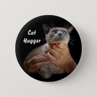 Katze Hugger Runder Button 5,1 Cm