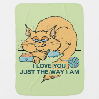 Katze: I Liebe Sie gerade die Weise bin ich Kinderwagendecke