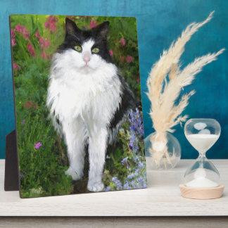 Katze im Garten Fotoplatte